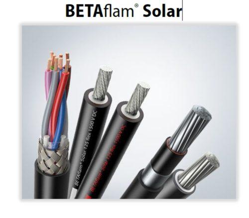Betaflam Solar cables header