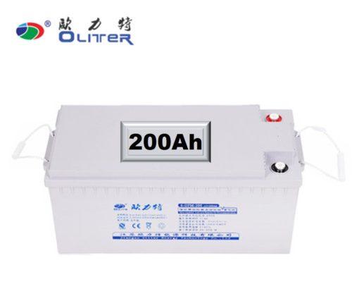 200Ah Oliter solar battery